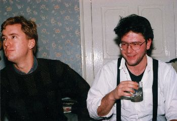 Rick and Bosco with a drink - Edinburgh.jpg