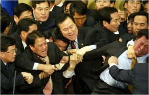 The decorous glory of Korean democracy. Or, you know, not.